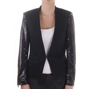 Maison Scotch  Sequin Sleeve Blazer Black